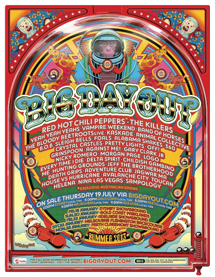 Big Day Out Line Up 2013